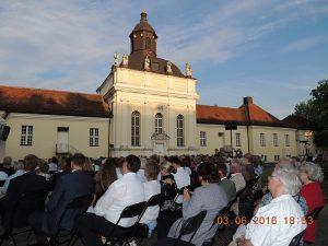 Justus Franz, Wolfgang Lippert und Maike Bartz am 3. Juni 2016